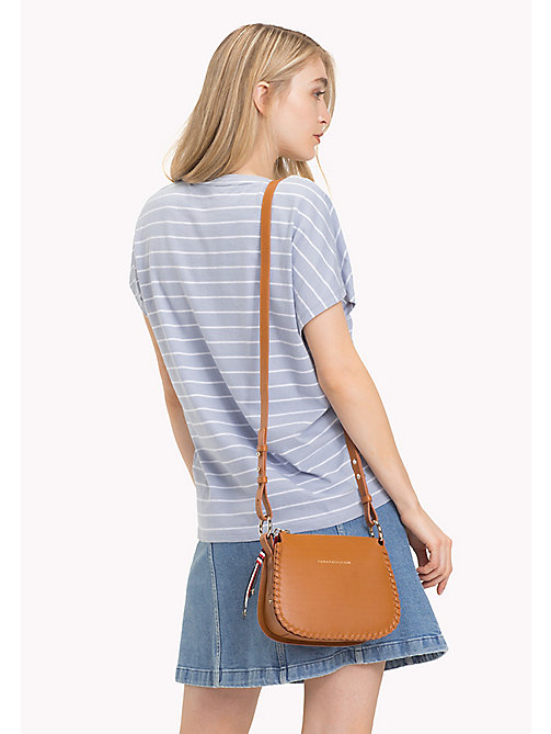 TOMMY HILFIGER Leather Stitch Cross-Body Bag - COGNAC - TOMMY HILFIGER Crossbody Bags - detail image 1