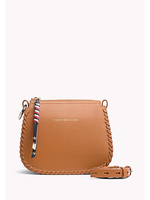 TOMMY HILFIGER Leather Stitch Cross-Body Bag - COGNAC - TOMMY HILFIGER Crossbody Bags - main image