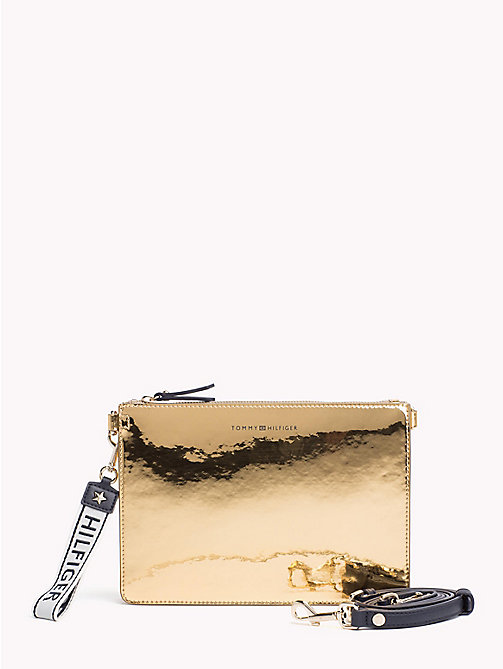 TOMMY HILFIGER Iconic Metallic Zip Pouch - MIRROR METALLIC - TOMMY HILFIGER VACATION FOR HER - main image