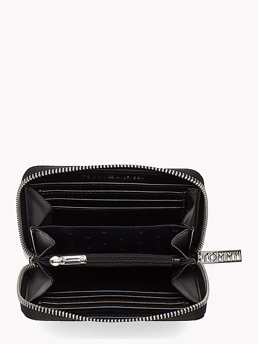 TOMMY HILFIGER Snake Effect Zip Purse - BLACK - TOMMY HILFIGER Accessories for the beach - detail image 1