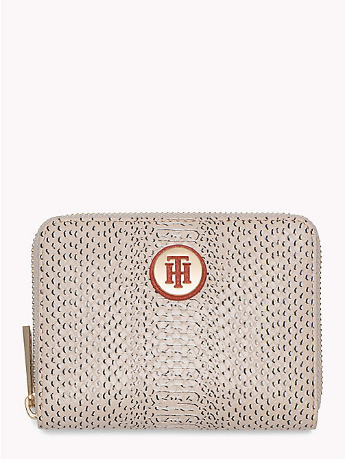 TOMMY HILFIGER Snake Effect Zip Purse - TAPIOCA SNAKE - TOMMY HILFIGER VACATION FOR HER - main image
