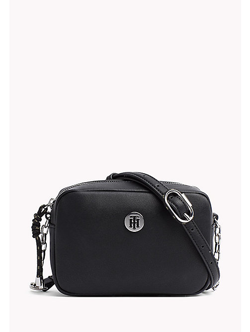 TOMMY HILFIGER Crossbodytas met monogram - BLACK - TOMMY HILFIGER Crossbodytassen - main image
