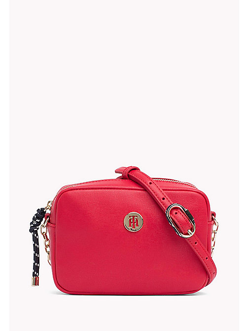 TOMMY HILFIGER Monogram Crossover Bag - TOMMY RED - TOMMY HILFIGER Crossbody Bags - main image