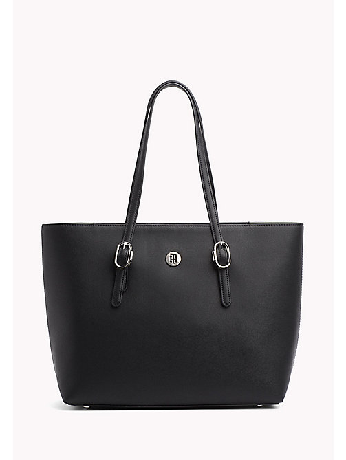TOMMY HILFIGER Buckle Detail Tote Bag - BLACK - TOMMY HILFIGER VACATION FOR HER - main image