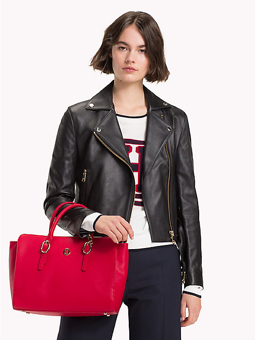 TOMMY HILFIGER Tommy Hilfiger Buckle Satchel - TOMMY RED - TOMMY HILFIGER VACATION FOR HER - detail image 1