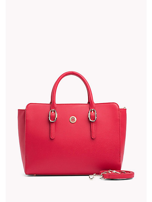 TOMMY HILFIGER Tommy Hilfiger Buckle Satchel - TOMMY RED - TOMMY HILFIGER VACATION FOR HER - main image