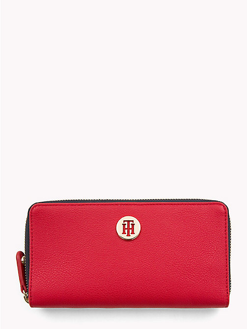 TOMMY HILFIGER Large Colour-Blocked Chain Wallet - TOMMY RED - TOMMY HILFIGER Colour-block collection - main image