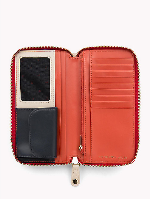 TOMMY HILFIGER Large Colour-Blocked Chain Wallet - TAPIOCA - TOMMY HILFIGER Wallets - detail image 1