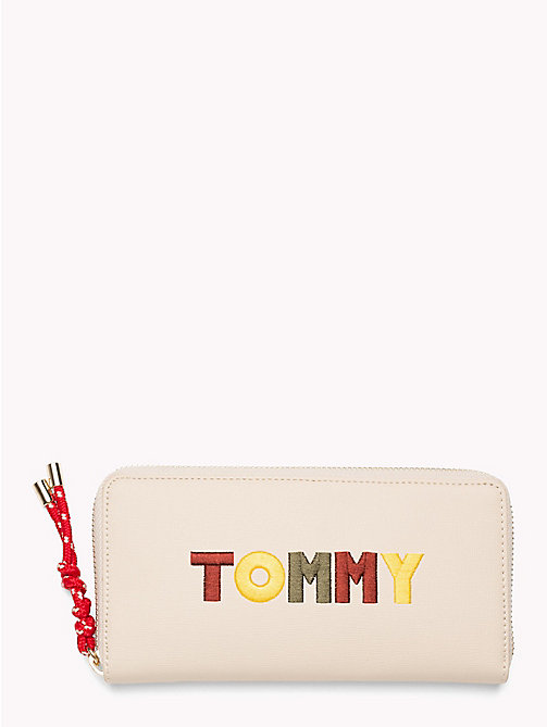 TOMMY HILFIGER Embroidered Rope Purse - TAPIOCA/ EXPLORE - TOMMY HILFIGER VACATION FOR HER - main image