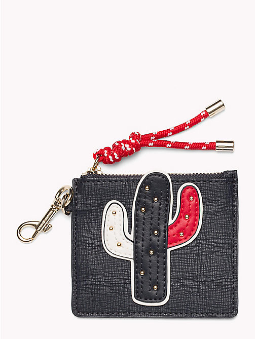TOMMY HILFIGER Cactus Appliqué Cardholder - TOMMY NAVY/ CACTUS - TOMMY HILFIGER VACATION FOR HER - main image