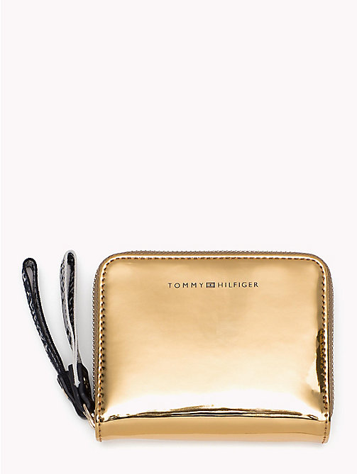 TOMMY HILFIGER Iconic Metallic Zip Purse - MIRROR METALLIC - TOMMY HILFIGER VACATION FOR HER - main image