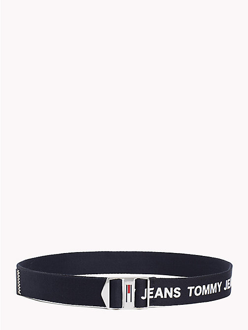 TOMMY JEANS Canvas Tommy Jeans Logo Belt - TOMMY NAVY - TOMMY JEANS Festival Season - main image