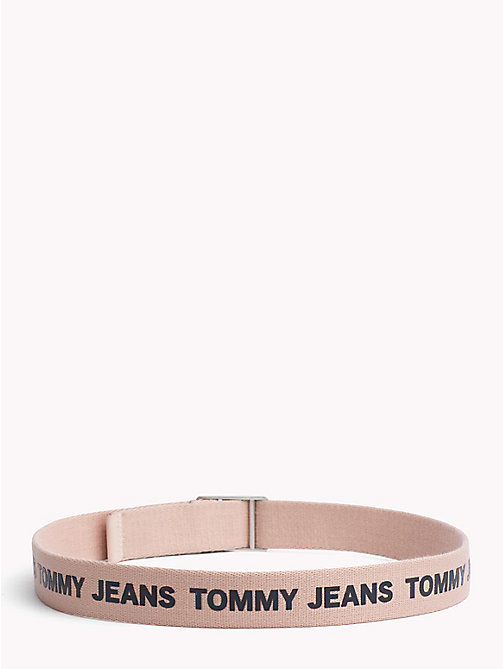 TOMMY JEANS Canvas Tommy Jeans Logo Belt - ROSE CLOUD - TOMMY JEANS Festival Season - detail image 1