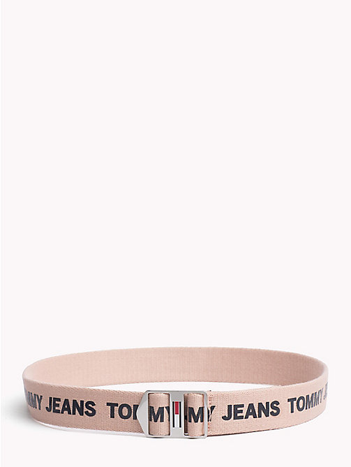 TOMMY JEANS Canvas Tommy Jeans Logo Belt - ROSE CLOUD - TOMMY JEANS Festivals Season - main image