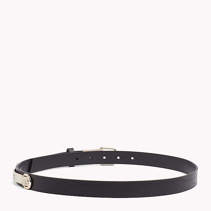 TOMMY JEANS Leather Patch Belt - TOMMY NAVY - TOMMY JEANS Women - detail image 1