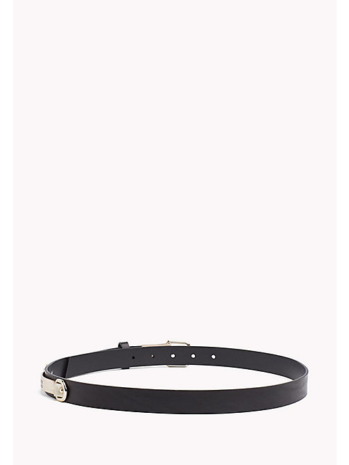 TOMMY JEANS Leather Patch Belt - BLACK - TOMMY JEANS VACATION FOR HER - detail image 1