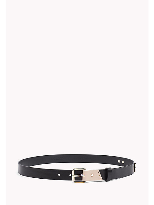 TOMMY JEANS Leather Patch Belt - BLACK - TOMMY JEANS VACATION FOR HER - main image