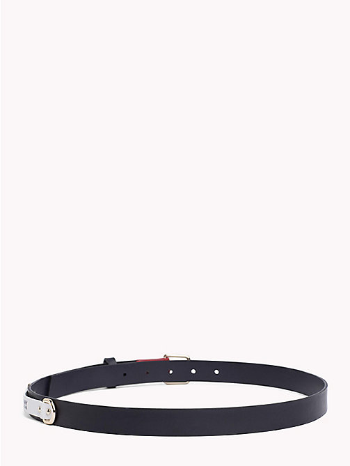 TOMMY JEANS Leather Patch Belt - TOMMY NAVY - TOMMY JEANS VACATION FOR HER - detail image 1