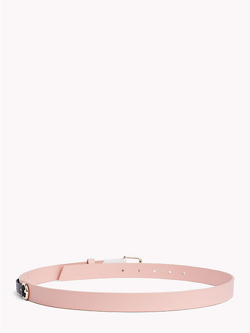 TOMMY JEANS Leather Patch Belt - ROSE CLOUD - TOMMY JEANS VACATION FOR HER - detail image 1