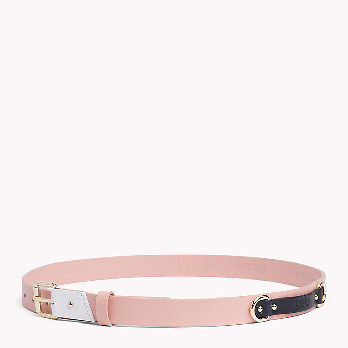 TOMMY JEANS Leather Patch Belt - BLACK - TOMMY JEANS Women - detail image 2