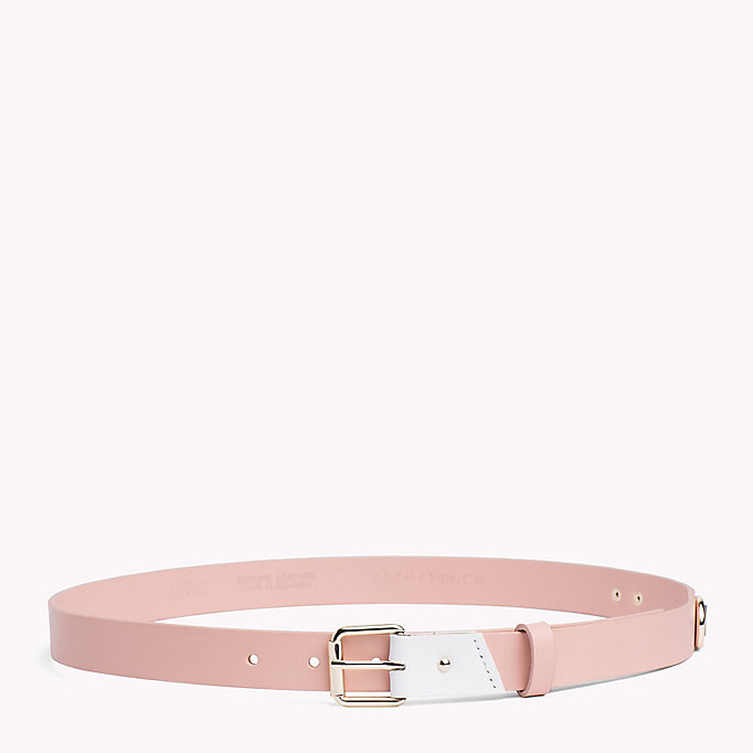 TOMMY JEANS Leather Patch Belt - BLACK - TOMMY JEANS Women - main image