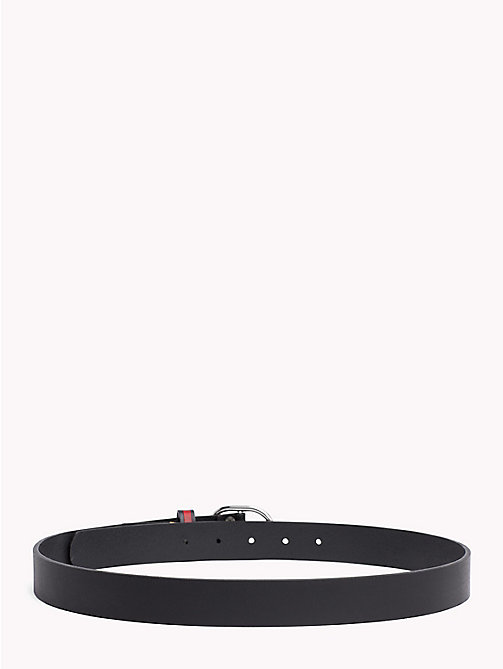 TOMMY JEANS Flag Print Leather Belt - BLACK - TOMMY JEANS Belts - detail image 1