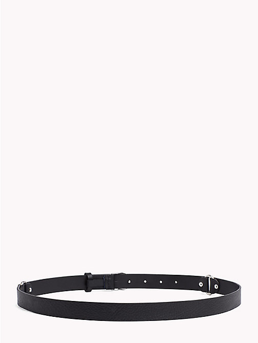 TOMMY HILFIGER Monogram Buckle Leather Belt - BLACK - TOMMY HILFIGER VACATION FOR HER - detail image 1