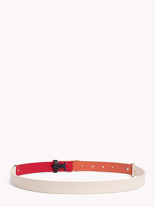 TOMMY HILFIGER Monogram Buckle Leather Belt - ORANGE MIX - TOMMY HILFIGER VACATION FOR HER - detail image 1