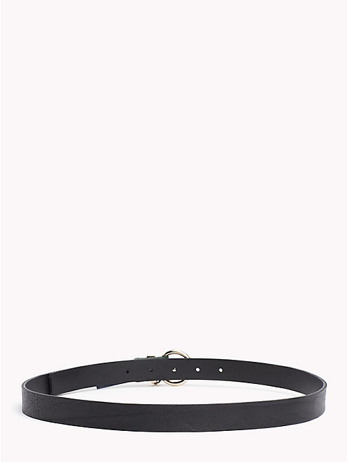 TOMMY HILFIGER Monogram Charm Leather Belt - BLACK -  Belts - detail image 1