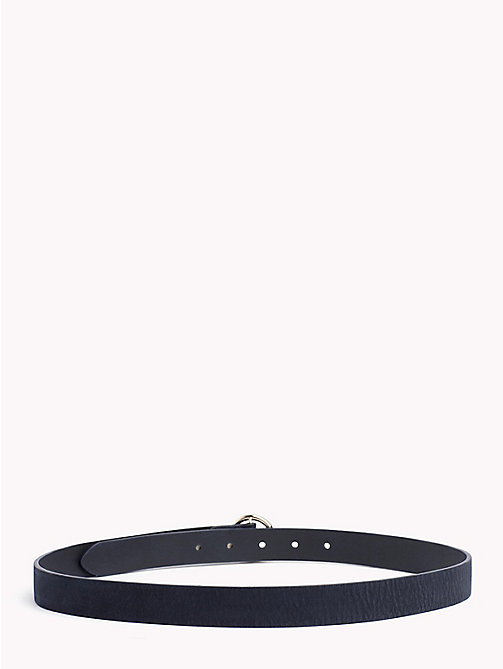 TOMMY HILFIGER Round Buckle Suede Belt - TOMMY NAVY - TOMMY HILFIGER Accessories for the beach - detail image 1