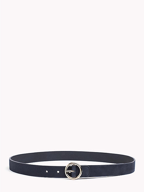 TOMMY HILFIGER Round Buckle Suede Belt - TOMMY NAVY - TOMMY HILFIGER Accessories for the beach - main image