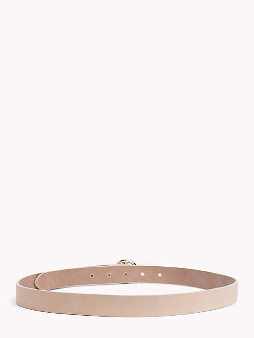 TOMMY HILFIGER Round Buckle Suede Belt - TAPIOCA - TOMMY HILFIGER VACATION FOR HER - detail image 1