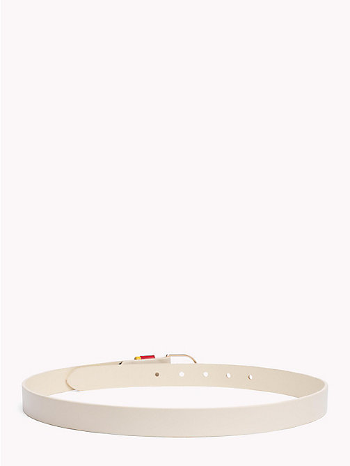 TOMMY HILFIGER Monogram Skinny Leather Belt - TAPIOCA - TOMMY HILFIGER VACATION FOR HER - detail image 1