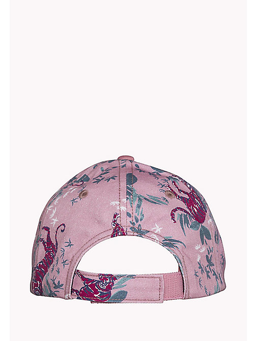 TOMMY HILFIGER GIRLS FLOWER PRINT CAP - PINK MIX - TOMMY HILFIGER Shoes & Accessories - detail image 1