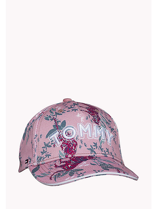 TOMMY HILFIGER GIRLS FLOWER PRINT CAP - PINK MIX - TOMMY HILFIGER Shoes & Accessories - main image