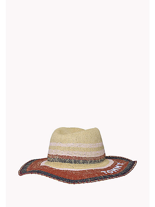 TOMMY HILFIGER Stripe Textile Hat - NATURAL - TOMMY HILFIGER Hats - detail image 1