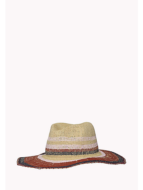 TOMMY HILFIGER Stripe Textile Hat - NATURAL - TOMMY HILFIGER VACATION FOR HER - main image