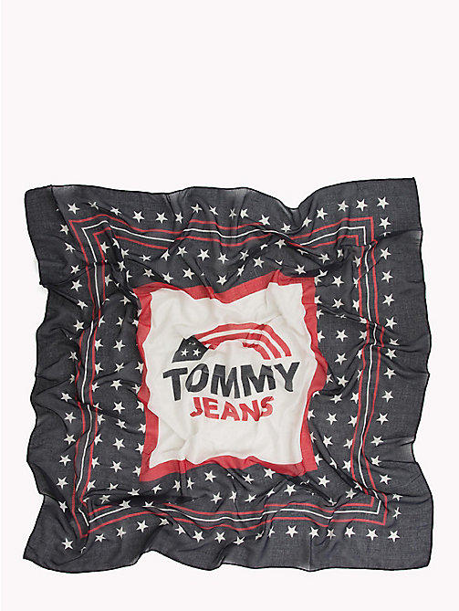 TOMMY JEANS Logo Star Print Scarf - CORPORATE - TOMMY JEANS VACATION FOR HER - detail image 1