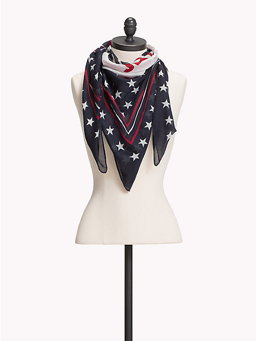 TOMMY JEANS Logo Star Print Scarf - CORPORATE - TOMMY JEANS VACATION FOR HER - main image