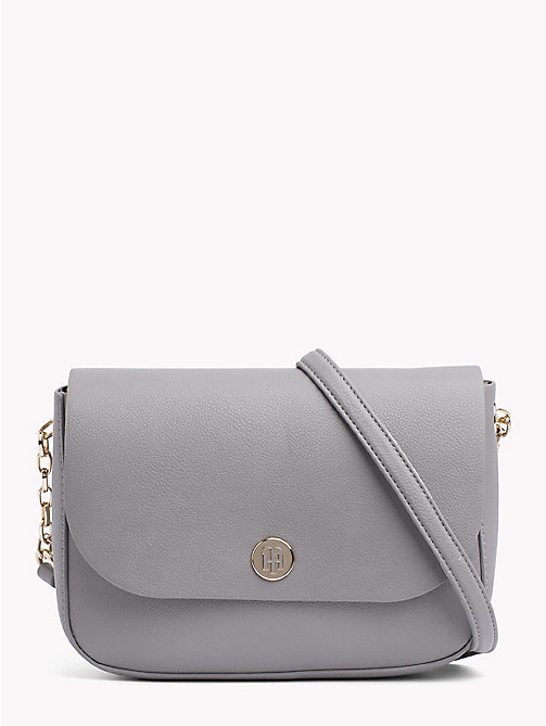 TOMMY HILFIGER Monogram Crossover Bag - SILVER FILIGREE/ POW CHECK - TOMMY HILFIGER Crossbody Bags - main image