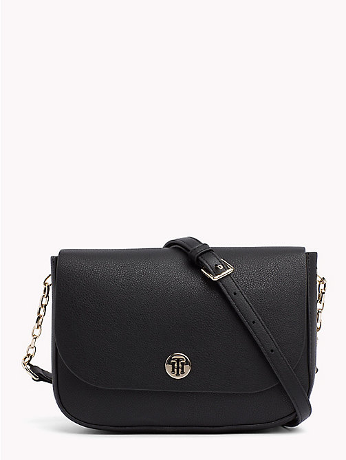 TOMMY HILFIGER Monogram Crossover Bag - BLACK/GOLD - TOMMY HILFIGER Crossbody Bags - main image