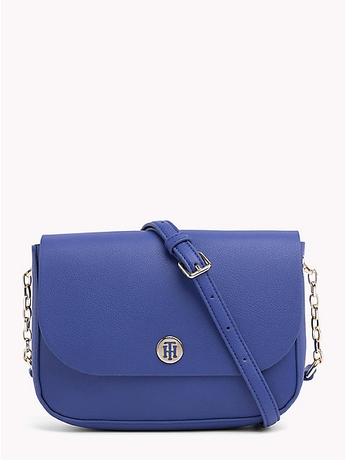 TOMMY HILFIGER Monogram Crossover Bag - MEZARINE BLUE/ SILVER FILIGREE - TOMMY HILFIGER NEW IN - main image