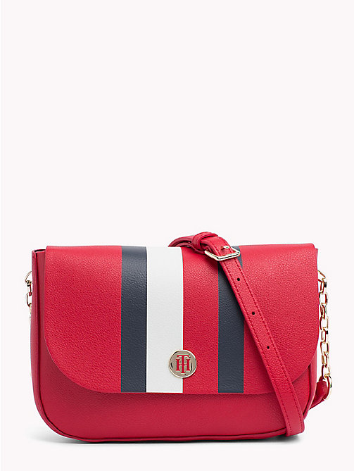 TOMMY HILFIGER Monogram Crossover Bag - TOMMY RED/ CORP STRIPE - TOMMY HILFIGER Crossbody Bags - main image