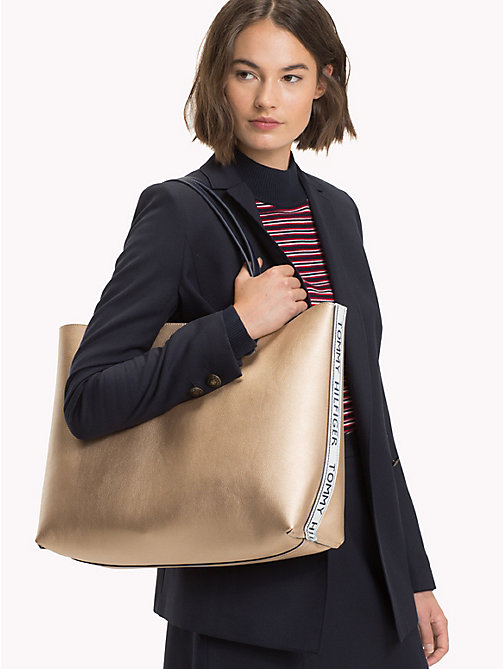 TOMMY HILFIGER Iconic Tote with Pouch - TOMMY NAVY/ ALLOVER PRINT - TOMMY HILFIGER Bags & Accessories - detail image 1