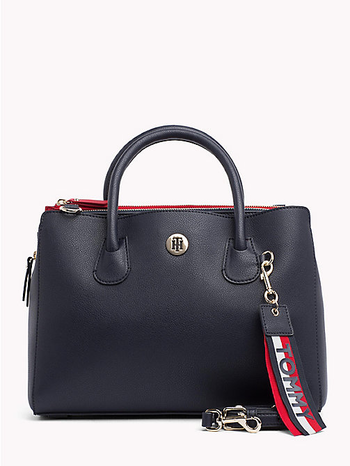 TOMMY HILFIGER Charm Work Bag - TOMMY NAVY/ CORP STRIPE - TOMMY HILFIGER Satchel Bags - main image