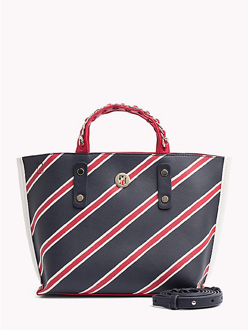 TOMMY HILFIGER Compact Stripe Chain Tote - PAINTED STRIPE CORP - TOMMY HILFIGER NEW IN - main image