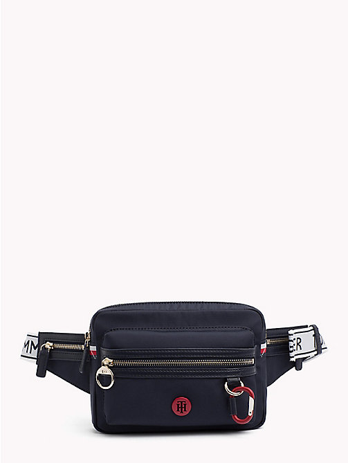 TOMMY HILFIGER Logo Strap Carabiner Bumbag - TOMMY NAVY - TOMMY HILFIGER Bags & Accessories - main image