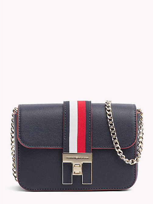 TOMMY HILFIGER H Plaque Mini Crossover Bag - TOMMY NAVY - TOMMY HILFIGER Crossbody Bags - main image