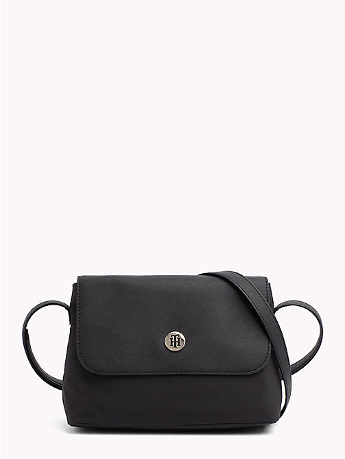 TOMMY HILFIGER Monogram Crossover Bag - BLACK - TOMMY HILFIGER Crossbody Bags - main image