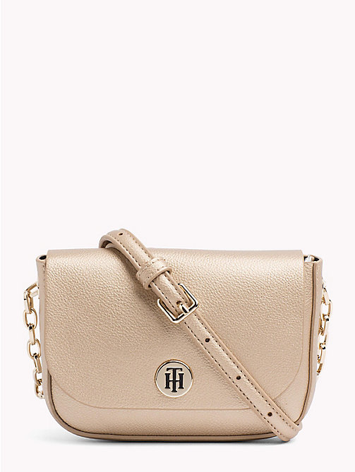 TOMMY HILFIGER Monogram Compact Crossover Bag - GOLD/ BLACK - TOMMY HILFIGER Crossbody Bags - main image